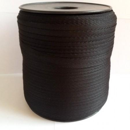 Тесьма лента  киперная 10мм №322 черный (250 м)