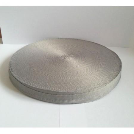 Тесьма лента  киперная 15мм №523 серый (100 метров)