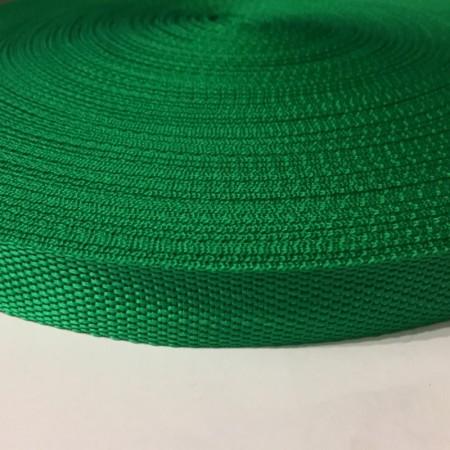 Тесьма-лента ременная 25мм зеленый (100 метров)