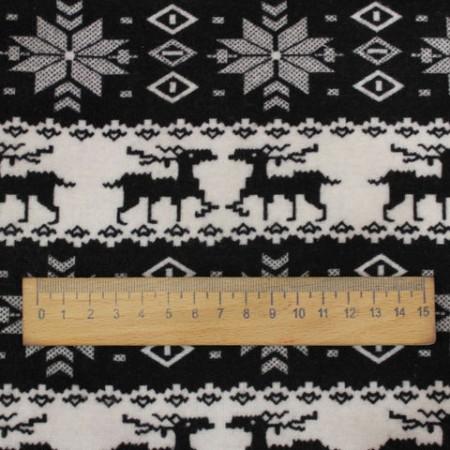 Ткань трикотаж на меху ангора олени (метр )