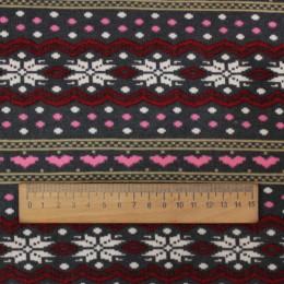 Ткань трикотаж на меху принт (метр )