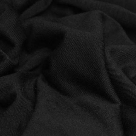 Ткань трикотаж вискоза черный (метр )