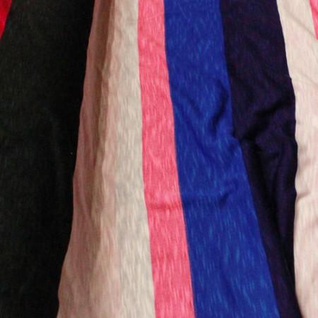 Ткань трикотаж вискоза принт полоска 4 (метр )