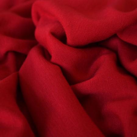 Ткань трикотаж вискоза плотная красная (метр )