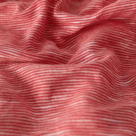 Ткань трикотаж вискоза футболочный Флам (Ирис) меланж коралл (Килограмм)