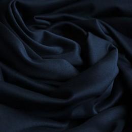 Ткань трикотаж дайвинг однотонный на флисе темно-синий (метр )