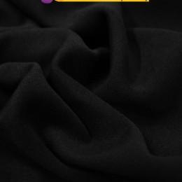Ткань трикотаж дайвинг однотонный на флисе черный (метр )