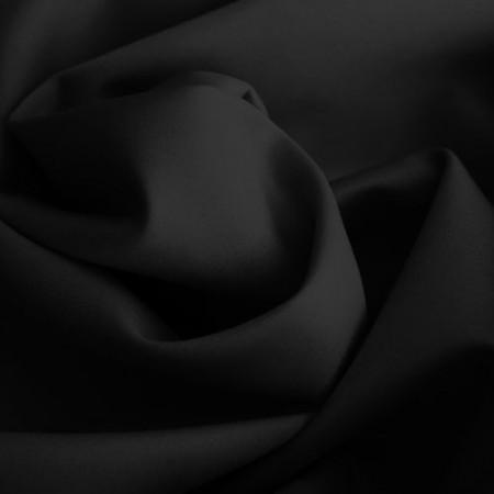Ткань трикотаж дайвинг однотонный черный (метр )