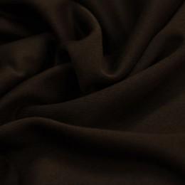 Ткань трикотаж дайвинг однотонный на флисе темно-коричневый (метр )
