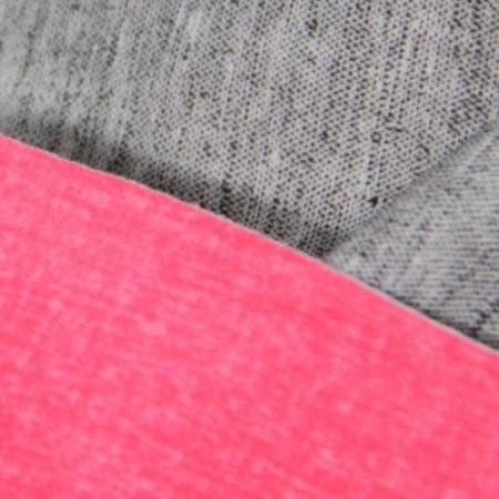 Ткань трикотаж дайвинг меланж двухсторонний розово-серый (метр )