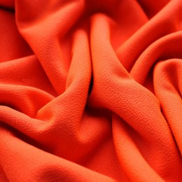 Ткань трикотаж креп оранжевый неон (метр )