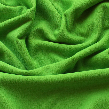 Ткань трикотаж креп зеленый (метр )