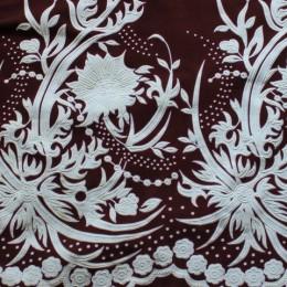 Ткань трикотаж масло принт накатка зефир4 (метр )