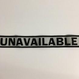 Резинка с логотипом Unavailable 40мм (заказная) (25 метров)