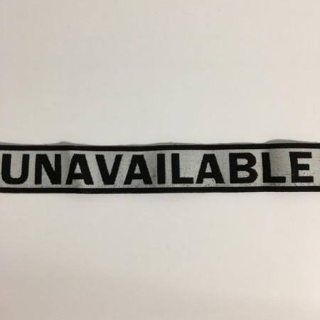 Резинка с логотипом Unavailable 40мм  (25 метров)
