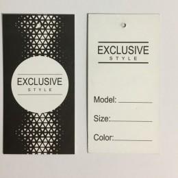 Этикетка картонная 5х10см Exlusive (1000 штук)