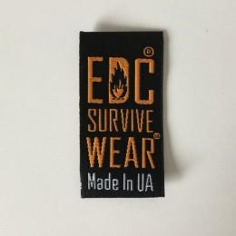 Этикетка жаккардовая вышитая EDC 24мм заказная (1000 штук)