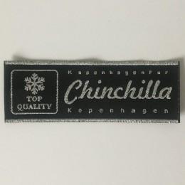 Этикетка жаккардовая вышитая Chinchilla 33мм заказная (1000 штук)