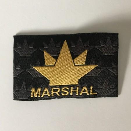 Этикетка жаккардовая вышитая Marshal 35мм заказная (1000 штук)