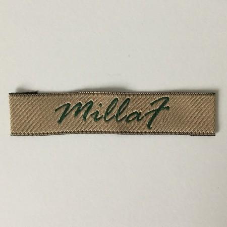 Этикетка жаккардовая вышитая Millaf 15мм заказная (1000 штук)