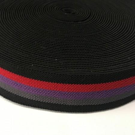 Резинка 35мм розовый фиолетовый серый (25 метров)