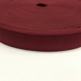 Резинка плоская 27мм бордовый (40 метров)