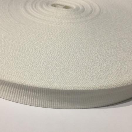 Тесьма репсовая производство 20мм белая (50 метров)