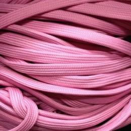 Шнур плоский чехол ПЭ40 10мм розовый (100 метров)