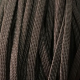Шнур плоский чехол ПЭ40 10мм коричневый (100 метров)