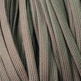Шнур плоский чехол ПЭ40 10мм серый (100 метров)