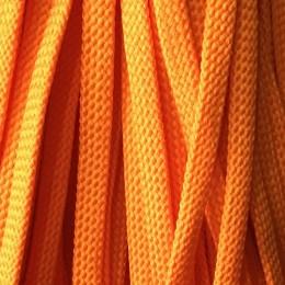 Шнур плоский чехол ПЭ8 мм оранжевый (100 метров)