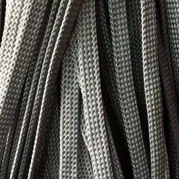 Шнур плоский чехол ПЭ8 мм серый (100 метров)