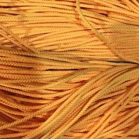 Шнур круглый 2мм желтый (100 метров)