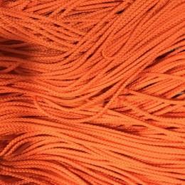 Шнур круглый 2мм оранжевый (100 метров)
