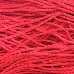 Шнур круглый 4мм красный (200 метров)