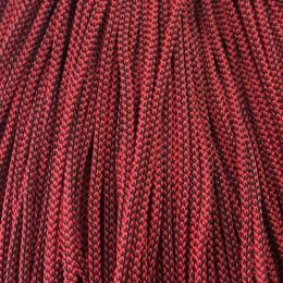 Шнур круглый 4мм 2х цветный красно черный (200 метров)