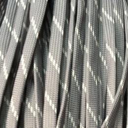 Шнур плоский чехол ПЭ40 10мм серо белый (100 метров)