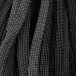 Шнур плоский чехол ПЭ40 10мм черный (100 метров)
