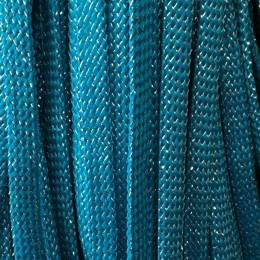 Шнур плоский чехол ПЭ8 мм люрекс морволна (100 метров)