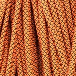 Шнур круглый 6мм 32 оранжево черный (100 метров)