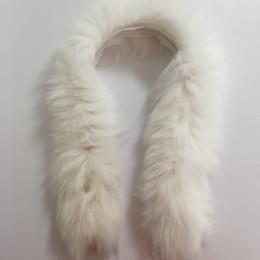 Опушка из натурального меха песец 60см белый (Штука)