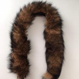 Опушка из натурального меха песец 70см енот (Штука)