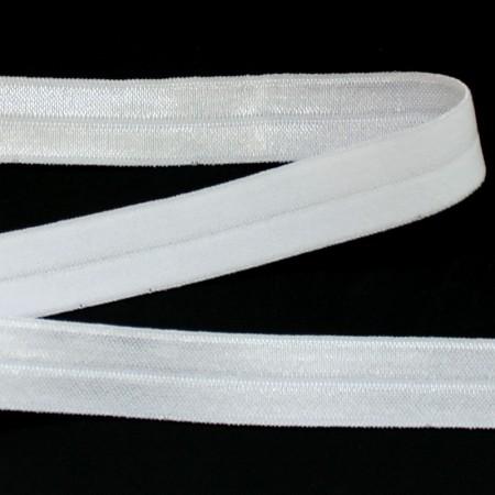 Бейка стрейчевая 20 мм белая (50 ярдов)