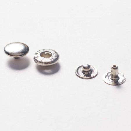 Кнопка металлическая 10 мм Турция никель (720 штук)