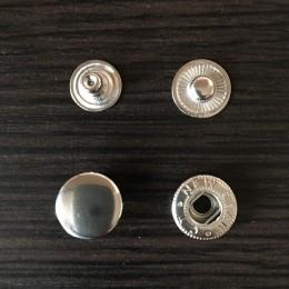 Кнопка металлическая 15мм Китай никель (1000 штук)