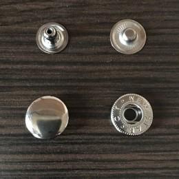 Кнопка металлическая 15мм Китай темный никель (1000 штук)