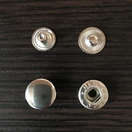 Кнопка металлическая 12,5мм Турция никель (720 штук)