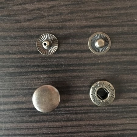 Кнопка металлическая 12,5мм Турция антик (720 штук)