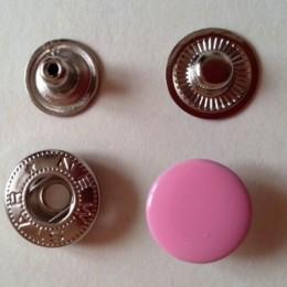 Кнопка металлическая 15 мм эмаль розовая №134 (720 штук)