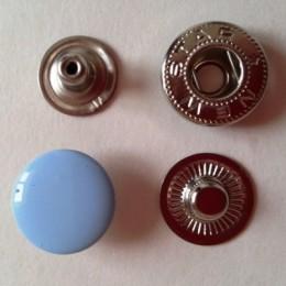 Кнопка металлическая 15 мм эмаль голубая №185 (720 штук)